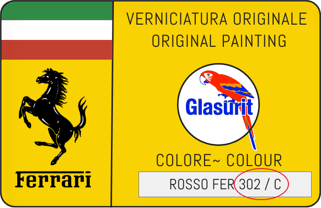 Color Code Example For Ferrari