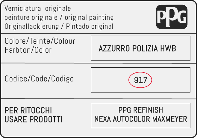 Color Code Example For Lancia