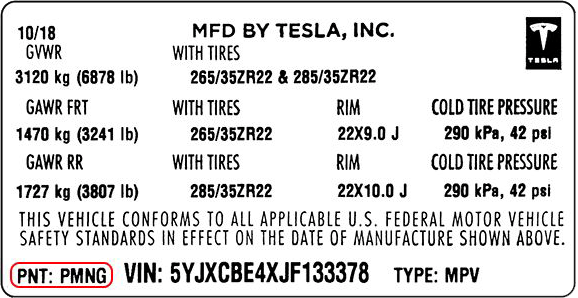 Color Code Example For Tesla