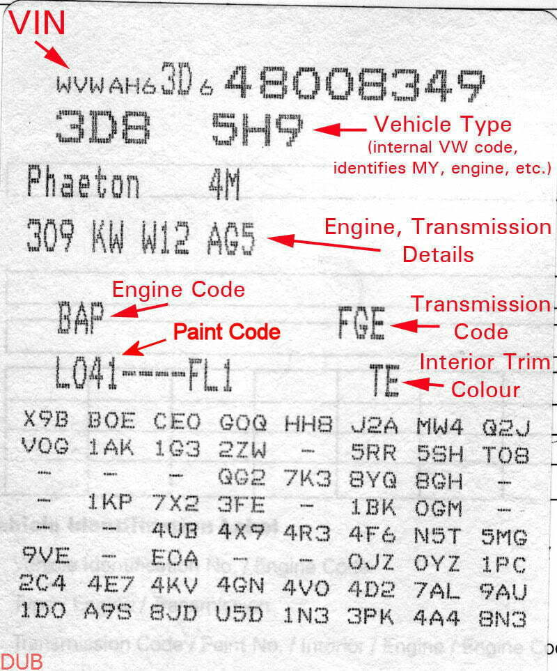 Color Code Example For Seat